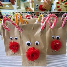 Rudolf Reindeer Nose Treat Bags