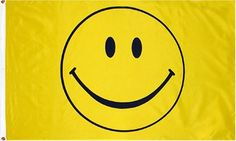 Amazon.com: Happy Face (Smiley yellow) Flag: 3x5ft poly: Sports & Outdoors