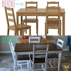 A mommy's life.with a touch of YELLOW: Ikea Kitchen Table Makeover {Tutorial} A mommy's life.with a touch of YELLOW: Ikea Kitchen Table Makeover {Tutorial} Ikea Table And Chairs, Kitchen Table Makeover, Kitchen Table Redo, Home, Diy Kitchen Table, Ikea Table, Diy Kitchen, Ikea Kitchen, Home Decor