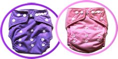 Girls colours in our modern cloth nappy range!
