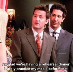 Chandler Bing #Wedding