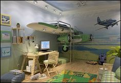 Decorating theme bedrooms - Maries Manor: aviation My son's would have loved this as youngsters!