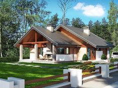 Photo of Maja project - Photo of Maja project Informations About Zdjęcie projektu Maja Pin You can easily u - House Roof Design, Village House Design, Kerala House Design, Village Houses, Small House Design, Modern House Design, Cabin House Plans, Small House Plans, Style At Home
