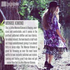 5d95754c3b4ea  Monroe  lularoe  lularoemonroe  kimono  monroekimono  leggings   lularoeleggings Lularoe Sizing
