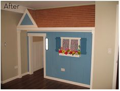 Closet turned into playhouse