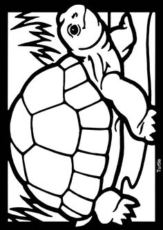 Stained glass coloring page sample from Dover