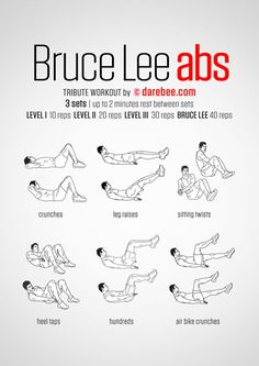 Bruce Lee Abs / Tribute Workout