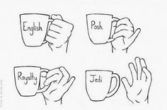 Ways to hold a cup