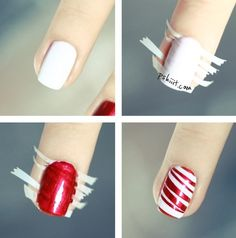 going to do this as soon as i get white nail polish!!!! and sparkly red lol