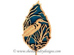 geese flying scroll saw pattern | FL143 - Forest Leaf Great Blue Heron Pattern