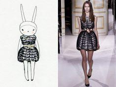 Fifi Lapin wears Giambattista Valli. #MRPKittyMeow looks AWFULLY SIMILAR #Copycat #NoOriginality