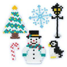 Perler Beads Fused Bead Winter  Christmas Snowman by Perler Beads