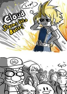 Cloud joints the battle... Link has my exact reaction to the announcement