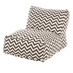 123 Majestic Home Products Zig Zag Bean Bag Lounger & Reviews | Wayfair