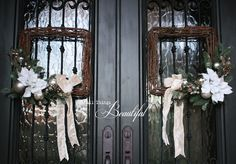 Winter White {Christmas Wreaths}
