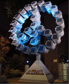 Solar panel inspired art.