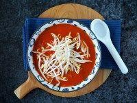 Chinese tomatensoep (vegetarische versie)