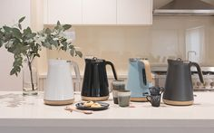 Wooden trims, removable limescale filter, massive 1.5L capacity, faster boiling 3kW element, cord storage, 4 different colours... the full Scandinavian look & feel into the new collection of kettles by Morphy Richards.