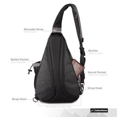 Amazon.com: OutdoorMaster Sling Bag Backpack, Multipurpose Daypack Book Bag for Men & Women (Gray): Sports & Outdoors