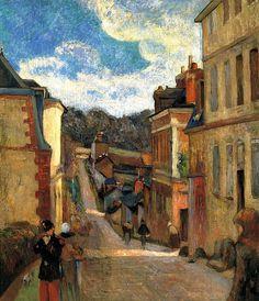 Paul Gauguin-La calle Jouvenet en Rouen. 1884 by BoFransson, via Flickr