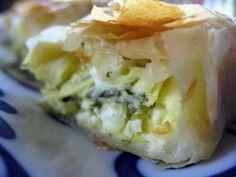 Greek Artichoke Cheese Pie -- artichokes and feta.  Sounds delicious.