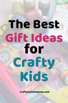 Are you looking for a gift for a kid who loves to color, cut, paste, mold, and sculpt? This is the perfect list of gift ideas for crafty kids with ideas Activities For 2 Year Olds, Indoor Activities For Kids, Infant Activities, Fun Activities, Crafts For Kids, Teaching Numbers, Teaching Letters, Diy Craft Projects, Craft Tutorials