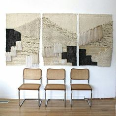 Woven triptych for Anthropologie. Over 7 feet wide. Available online @anthropologie #allroadsforanthropologie