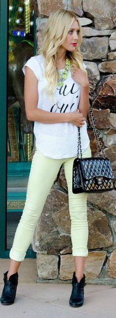 Joie White And Black Oui Oui Linen Tee Shirt by Bird a la mode