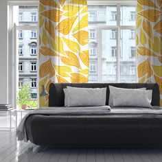 "POM GRAPHIC DESIGN ""AUTUMN"" DECORATIVE SHEER CURTAINS"