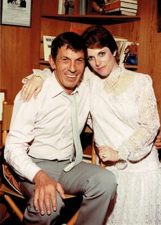 Leonard Nimoy and his daughter Julie