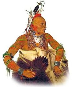 Osage Native American Indian by George Catlin
