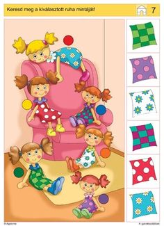 images attach c 2 Preschool Learning Activities, Preschool Printables, Brain Activities, Preschool Worksheets, Kids Learning, Picture Comprehension, Really Cute Puppies, File Folder Activities, Educational Games For Kids
