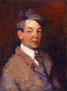 Realist painter William James Glackens (American: 1870 – 1938) | William James Glackens - Self-Portrait ,1908