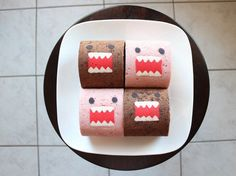 How to Make a Domo-Kun Decorated Cake Roll Recipe - Snapguide