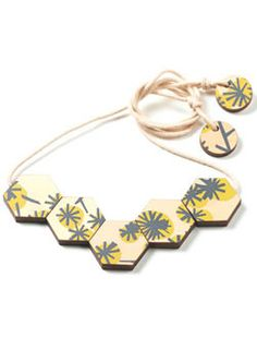 Inspired Australian NAtive Wattle this necklace is made in Sydney Australia by Polli. Buy it at bitsofaustralia.com.au