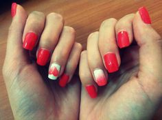 tutorial_unghii_inima_degrade Nails, Blog, Diy, Beauty, Finger Nails, Do It Yourself, Ongles, Bricolage, Nail