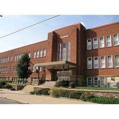 7A Old high school building, Sapulpa Sept. 2008 137 (image) ❤ liked on Polyvore