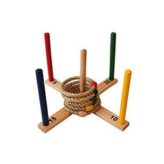 Ring Toss Set - Quoits Game for Kids & Adults - Indoor or Outdoor Game with Rope Rings - Boys & Girls Can Play This Fun Lawn Game at BBQ, Tailgating Parties - Your Dream Toys Picnic Games, Outdoor Party Games, Outdoor Games For Kids, Fun Games For Kids, Games For Toddlers, Games For Girls, Outdoor Toys, Outdoor Spaces, Toddler Party Games