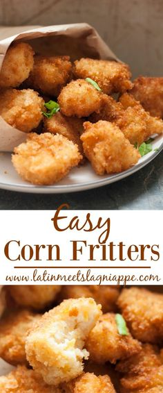 These easy corn fritters are such a yummy snack!