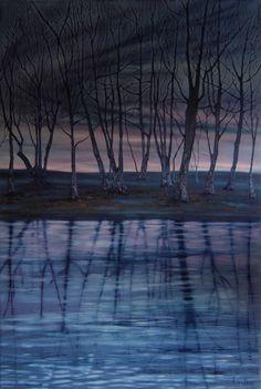 Desolate Landscape Art, Landscape Paintings, Tree Art, Art Work, Sky, Gallery, Beach, Water, Outdoor