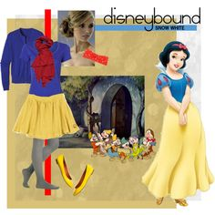 disneybound: snow white inspired outfit by clare-mulderink on Polyvore