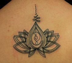 lotus flower sacred geometry tattoo | TATTOOs by Mareva Lambough