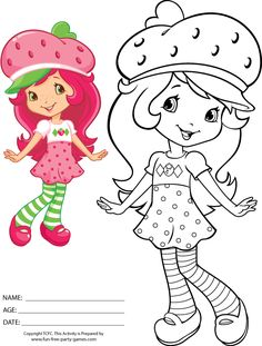 Cartoons Coloring Pages Strawberry Shortcake Coloring Pages