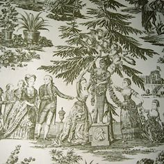 Majestic Lee Jofa King George Historic 18th Century Reproduction Toile Wallpaper - Epic!