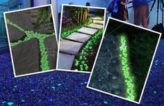 Ambient Glow Technology: Commercial Grade Glow in the Dark Aggregates Glow Stones, Solar Powered Lights, Garden Art, Natural Light, Paths, Aquarium, Eco Friendly, Nature, Color