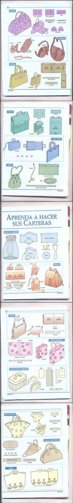 Простые выкройки сумок (подборка) / Простые выкройки / ВТОРАЯ УЛИЦА