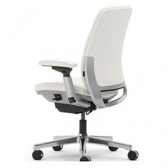 With fully upholstered leather outer back and arm caps, Amia brings an element of sophistication to any office setting.