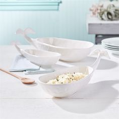 Two's Company Set Of 3 Beluga Bowls – Modish Store