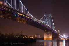 Philadelphia pa and South Jersey's Walt Whitman Bridge at Night.  I had to cross he Walt Whitman Bridge to get to Marlton, New Jersey for work when I went there on TDY.