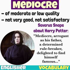 Vocabulary: Mediocre